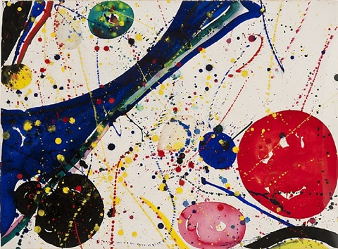 untitled (sf65-213) by sam francis