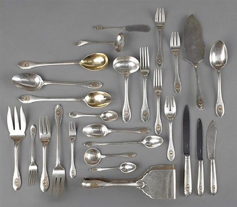 lot no. 984: the statesbury sterling silver flatware service