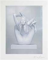 sphinx (silver leaf) by marc quinn