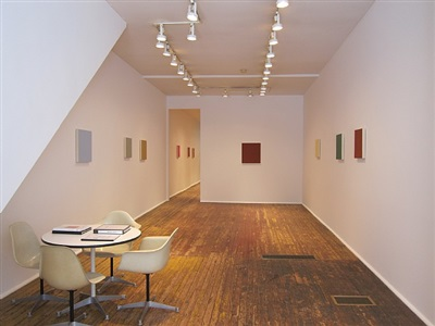 marcia hafif from the inventory late roman paintings<br>installation view; front room by marcia hafif