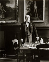 headwaiter, garrick club, london by evelyn hofer