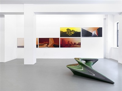 installation view by zaha hadid