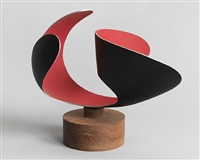 untitled (red and black) by josé de rivera