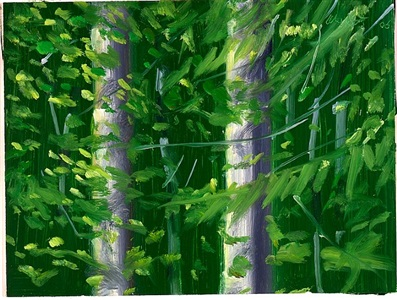 two trees #1 by alex katz