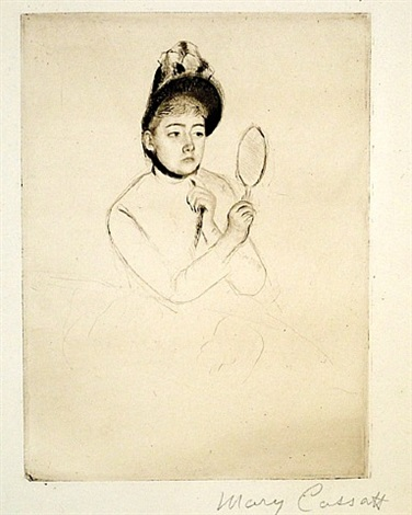 the bonnet by mary cassatt