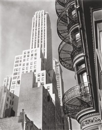 murray hill hotel, spiral, new york, by berenice abbott