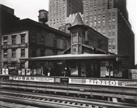 barclay street station, by berenice abbott