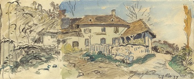 la ferme by johan barthold jongkind