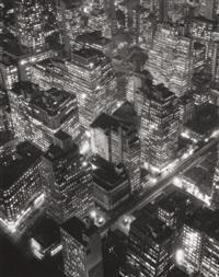 new york at night, by berenice abbott