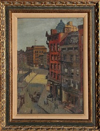 city street by raphael soyer
