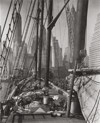 theoline, pier 11, east river, new york by berenice abbott