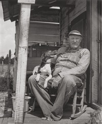 old man on porch by berenice abbott