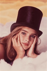 brooke shields (top hat) by gary gross