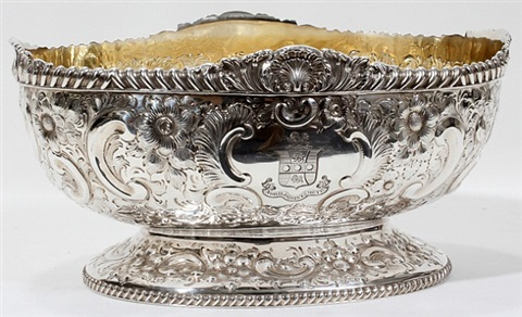 lot no. 1015: silver centerpiece bowl by atkin brothers