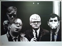 andy warhol, henry geldzahler, david hockney and jeff goodman, from the geldzahler portfolio by dennis hopper