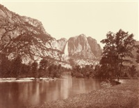 falls of the yosemite (great grizzly bear feet), 1872 by eadweard muybridge