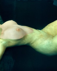 jennifer, torso underwater, new york city by albert watson
