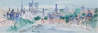 view of ile st. louis by jean dufy