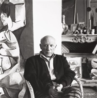picasso at villa la californie, cannes, france by lee miller