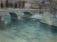 the bridge of charenton by edward willis redfield