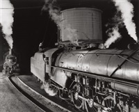 nw 609. watering the 104, bristol roundhouse, bristol, virginia by o. winston link