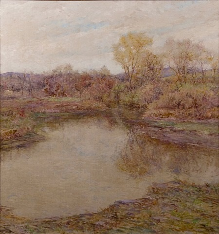 the pond in early autumn by robert reid