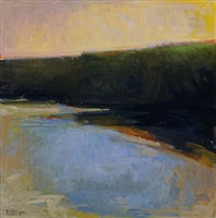 evening pond (sold) by ira barkoff