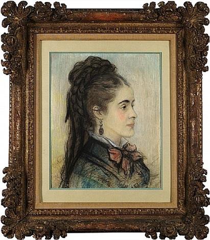 le portrait d'une jeune femme by pierre-auguste renoir