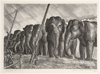 elephants by john steuart curry