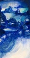 blue landscape ii by leiko ikemura