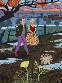 the upper class at bay (detail) by grayson perry