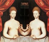 untitled (gabrielle d'estrées et sa sœur la duchesse de villars, fontainebleau school) by jiri kolar