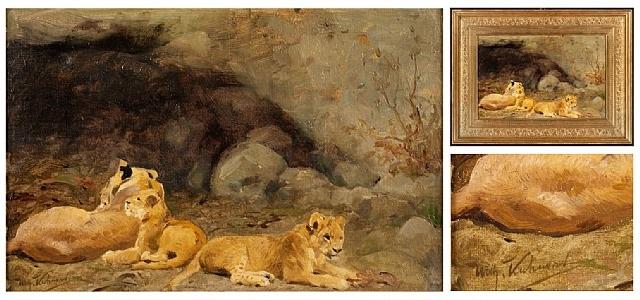 lion cubs by wilhelm friedrich kuhnert