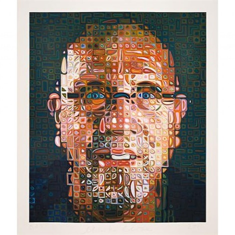 self-portrait by chuck close