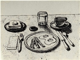 bacon & eggs by wayne thiebaud