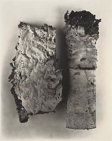 cigarette no.42, new york, 1972 by irving penn