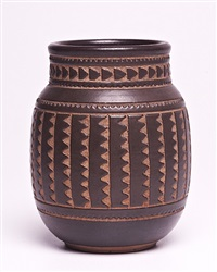 carved vase by emile lenoble
