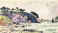 l'estuaire à trieux, bretagne by paul signac