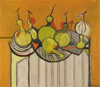 still life with gourds by graham sutherland