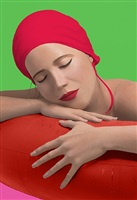 serena with red cap by carole a. feuerman