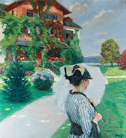 villa at the lake by edward cucuel