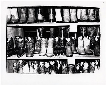 cowboy boots by andy warhol