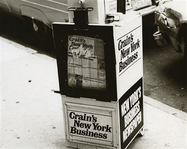 newspaper dispenser, crain's new york business by andy warhol