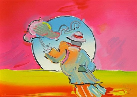umbrella man by peter max