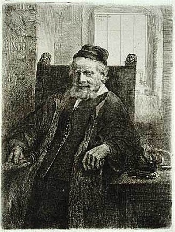 jan lutma, goldsmith by rembrandt van rijn