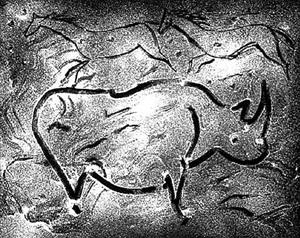 torchlight cave drawing v by elaine de kooning