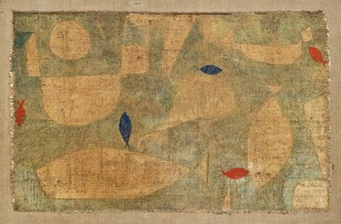 mast- und zierfische / mast and ornamental fishes by paul klee
