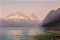 sunset by hermann herzog