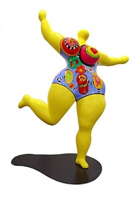 dawn (yellow) by niki de saint phalle