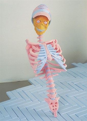 untitled (skeleton) by folkert de jong